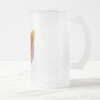 Mariposa del teñido anudado taza de cristal