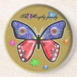 mariposa del tono de la joya posavasos diseño
