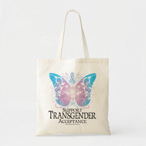 Mariposa del transexual bolsas de mano