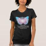 Mariposa del transexual camisetas