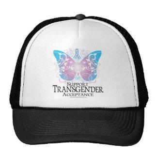 Mariposa del transexual gorras