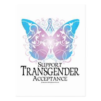 Mariposa del transexual tarjeta postal