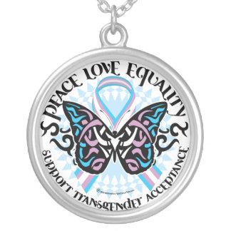 Mariposa del transexual tribal pendiente personalizado