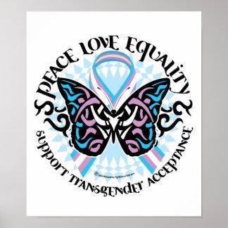 Mariposa del transexual tribal póster
