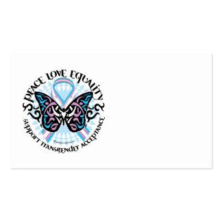 Mariposa del transexual tribal plantilla de tarjeta de visita