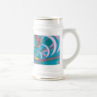 Mariposa del verano del arte abstracto tazas de café