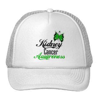 Mariposa del verde de la conciencia del cáncer del gorros bordados
