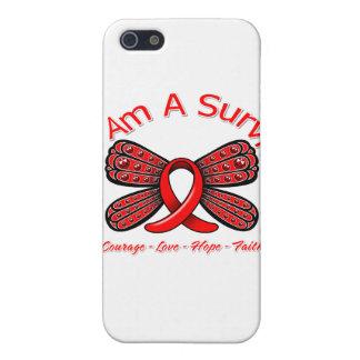 Mariposa del VIH del SIDA soy un superviviente iPhone 5 Cárcasas