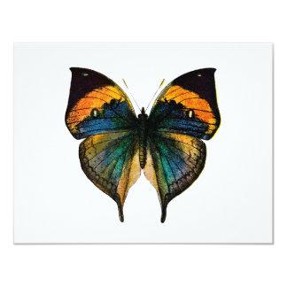 """Mariposa del vintage - 1800's mariposa antigua invitación 4.25"""" x 5.5"""""""