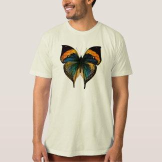 Mariposa del vintage - 1800's mariposa antigua playera