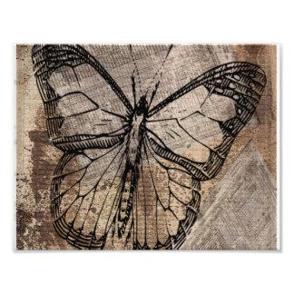 Mariposa del vintage cojinete