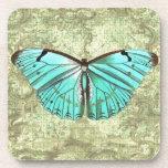 Mariposa del vintage posavasos