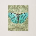 Mariposa del vintage rompecabezas con fotos