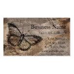Mariposa del vintage tarjeta personal