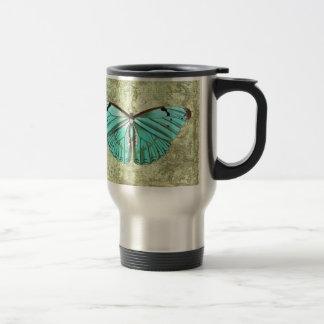 Mariposa del vintage taza térmica