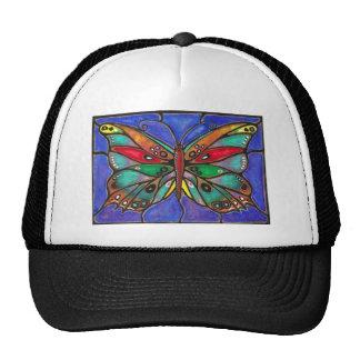 Mariposa del vitral--¡arte fresco a llevar o a gorros bordados