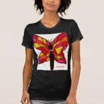 mariposa del vitral camiseta