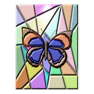 Mariposa del vitral postal