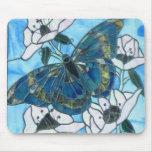 Mariposa del vitral tapetes de raton