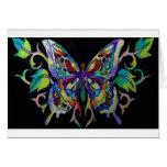 mariposa del vitral tarjeton
