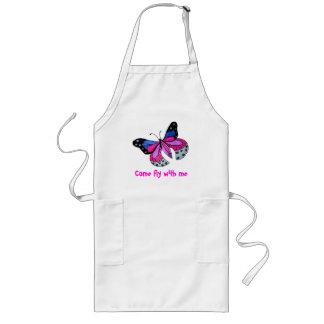 Mariposa del vuelo delantal largo