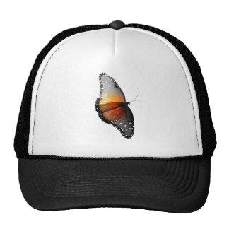 Mariposa descolorada gorros bordados