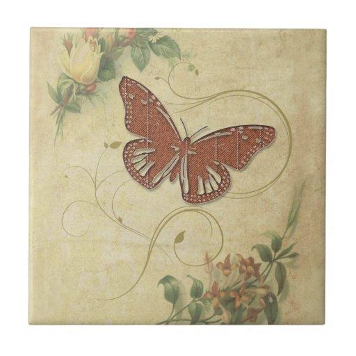 Mariposa dulce teja cerámica