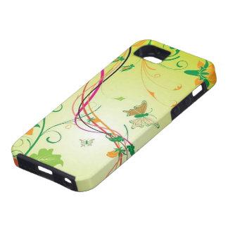 mariposa e imagen del diseño del vector del giro funda para iPhone 5 tough