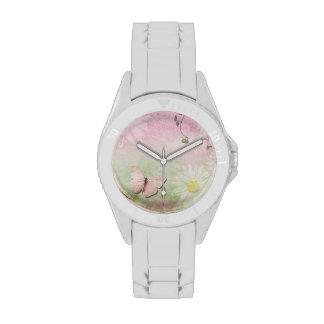 Mariposa + Ejemplo de la margarita - señora reloj