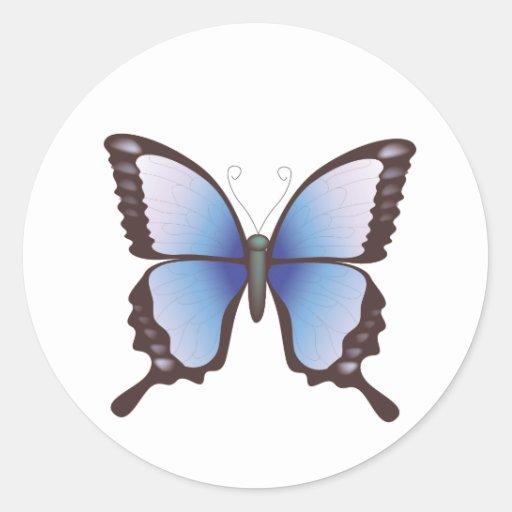 Mariposa: Ejemplo del vector: Pegatina