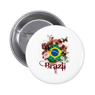 Mariposa el Brasil Pin Redondo 5 Cm