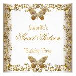 Mariposa elegante del oro blanco 16 del dulce comunicados personales