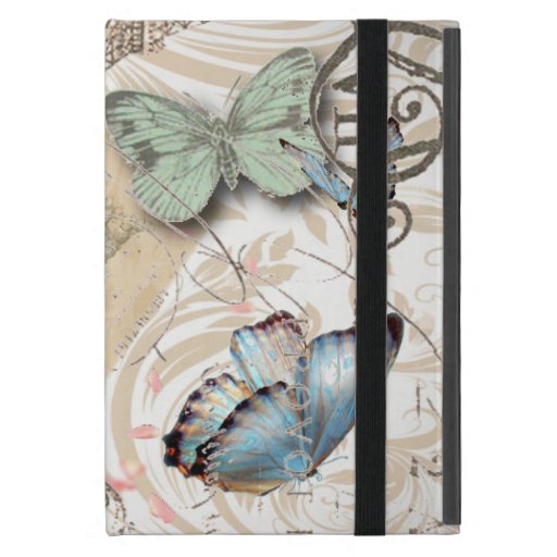 mariposa elegante elegante París EiffelTower del v iPad Mini Protectores