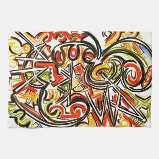 Mariposa emergente - arte abstracto toallas de mano
