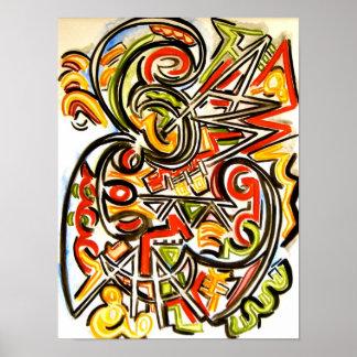 Mariposa emergente - poster del arte abstracto