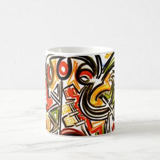 Mariposa emergente - taza del arte abstracto