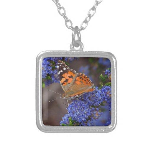 Mariposa en azul pendientes