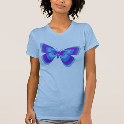 Mariposa en azul y púrpura playeras