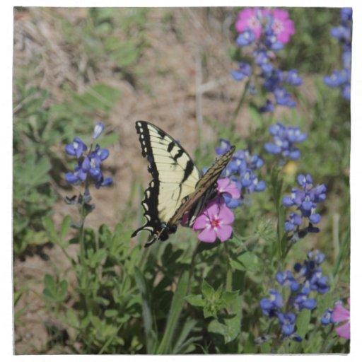 Mariposa en Bluebonnet Servilleta De Papel