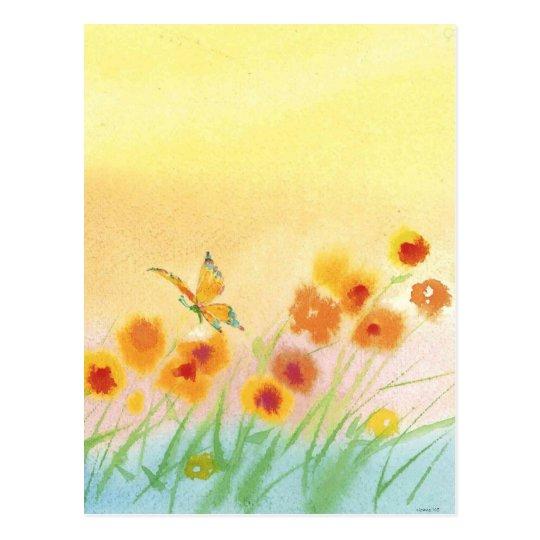 mariposa en campo salvaje tarjetas postales