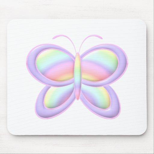 Mariposa en colores pastel alfombrilla de raton