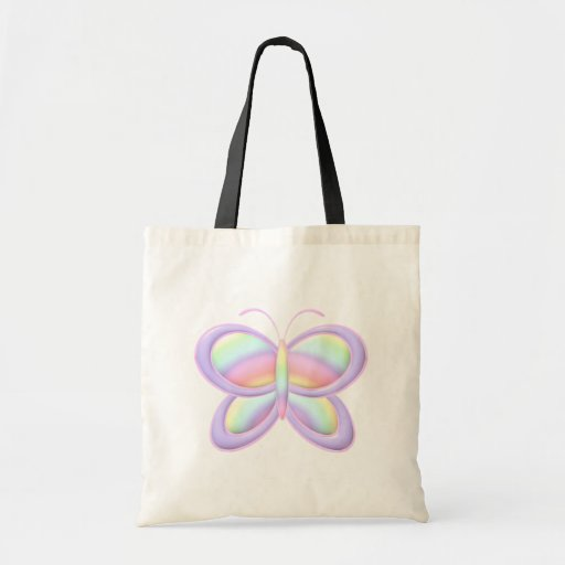 Mariposa en colores pastel bolsa tela barata