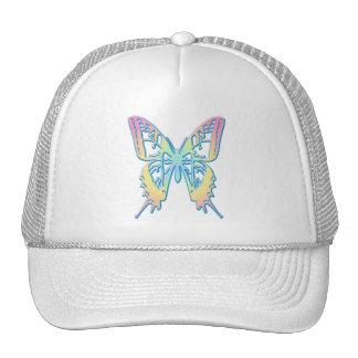 Mariposa en colores pastel gorras