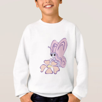 mariposa en colores pastel linda con la flor camisas