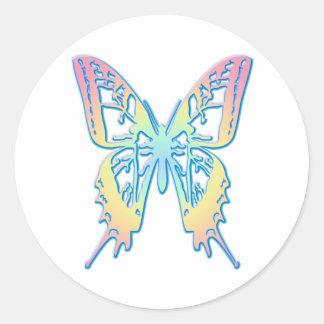 Mariposa en colores pastel