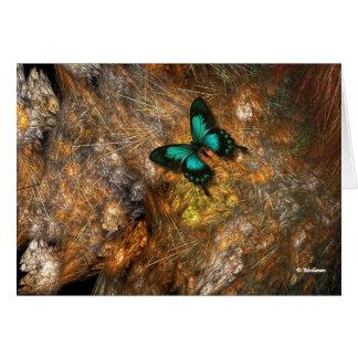 Mariposa en el cactus felicitacion