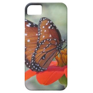 Mariposa en el caso del iPhone del girasol iPhone 5 Funda