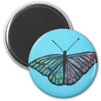 Mariposa en el cielo iman de nevera