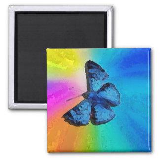 mariposa en el cielo iman para frigorífico