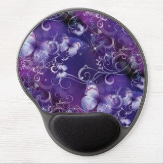 Mariposa en el gel violeta púrpura Mousepad Alfombrilla Para Ratón De Gel